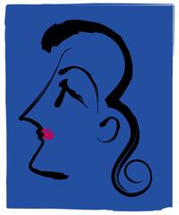 womans profile face