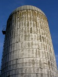 vintage farm silo. poster