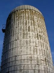 vintage farm silo.