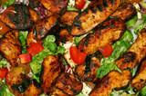 bbq chicken salad poster