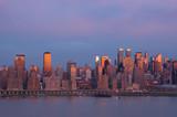 new york at sunset poster