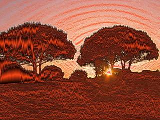 sonnenaufgang in rot