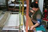 silk weaving poster