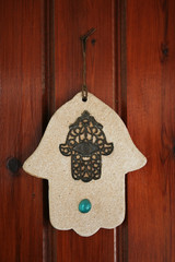 hamsa hand amulet, used to ward off the evil eye i