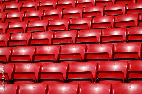 stadium seating - red