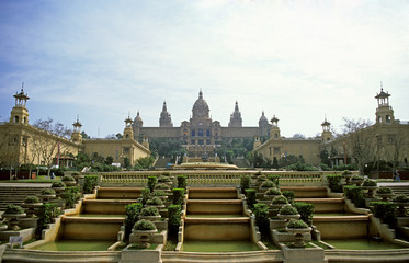 royal palace, barcelona, spain