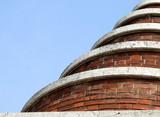 spiral brick building poster