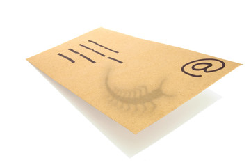 manila envelope used as a concept for email with the shadow of a