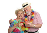 vacation seniors with cocktails poster