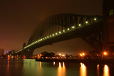 harbour bridge in the fog poster