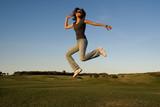 jumping woman poster