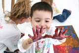 finger paint poster