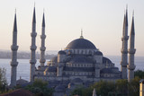 main mosque of istanbul - sultan ahmet camii (blue mosque) at ea poster