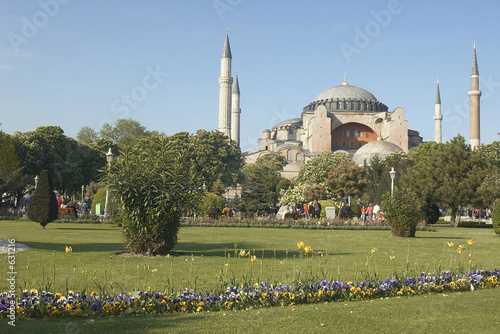 poster of famous ñhurch of saint sophia in istambul