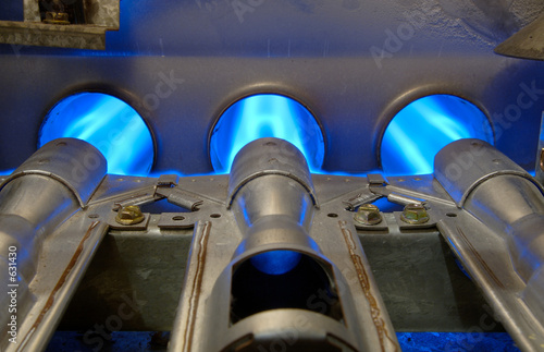 Leinwandbild Motiv gas energy flames