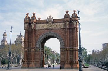 arch, barcelona, spain
