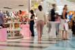 Leinwanddruck Bild - busy shoppers