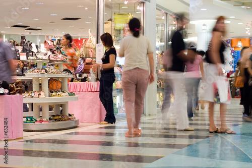 Leinwandbild Motiv busy shoppers