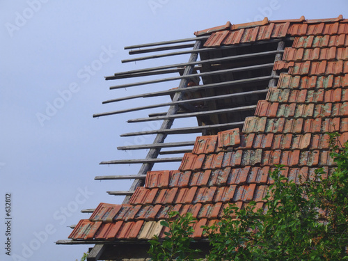 old stable roof