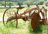 ancienne machine agricole poster