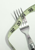 fork and tape measure poster