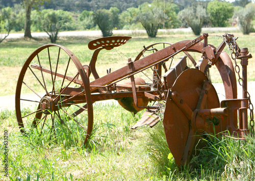 poster of ancienne machine agricole