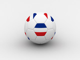 serbia & montenegro soccer ball poster