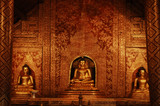 thailand, chiang mai: wat phra singh temple poster
