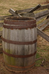 barrel and fence