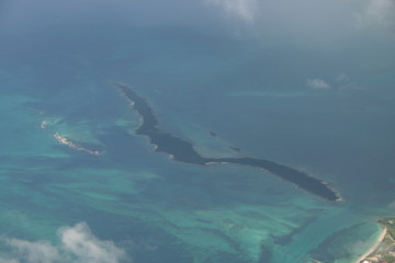 island off bahamas air shot