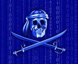 digital piracy with binary cascade poster