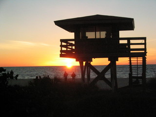 lifeguard sunset