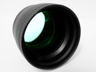 telephoto adapter green tint