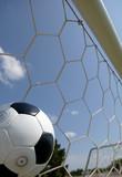 soccer - football in goal poster
