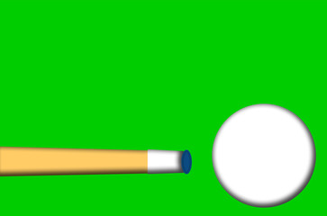 cue ball with pool stick