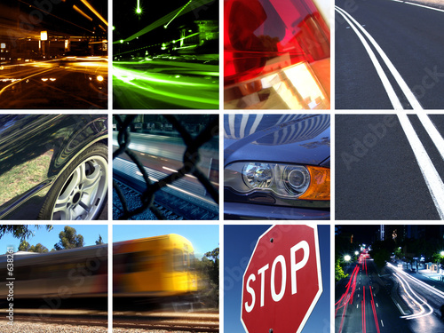 Leinwandbild Motiv transport montage