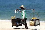 thailand, koh samui island: selling food on the beach poster