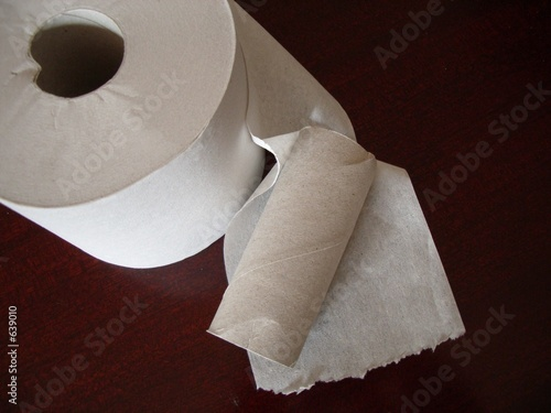 changing rolls of toilet paper