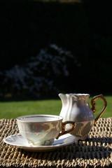 tea cup & milk jug