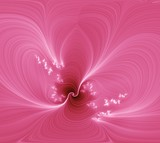 pink abstraction flower. poster