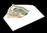 dolars in envelope poster