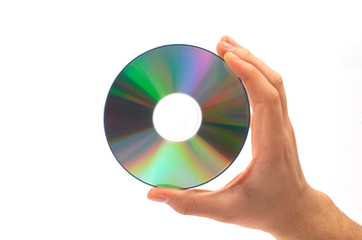 cd in hand