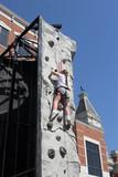 rock climbing child poster