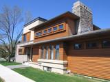 modern house with cedar siding poster