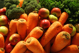 mixed fruits and vegetables for juicing poster