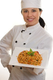 chef with pasta