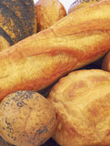 basket full with breads poster