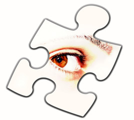 puzzlestück auge