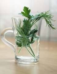 greens in the cup