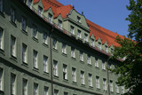 curved building in munich poster